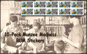 Munzee Madness (RUMS) Reseller Unique Munzee Stickers - 10 Pack