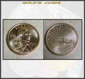 2000-D Sacagawea Native American Golden Dollar - UNC