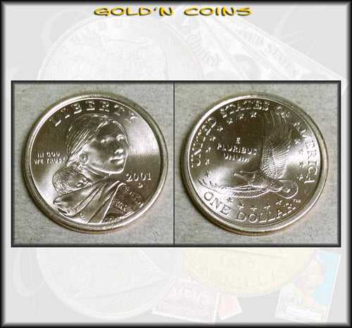 2001-D Sacagawea Native American Golden Dollar - UNC