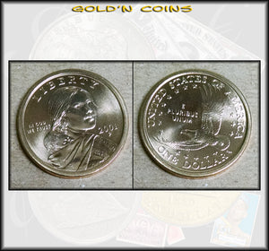 2001-P Sacagawea Native American Golden Dollar - UNC
