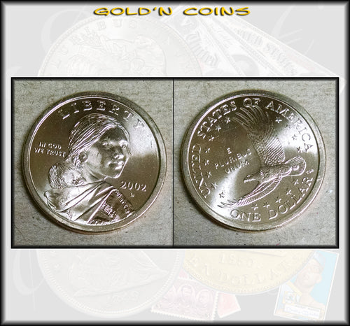 2002-D Sacagawea Native American Golden Dollar - UNC