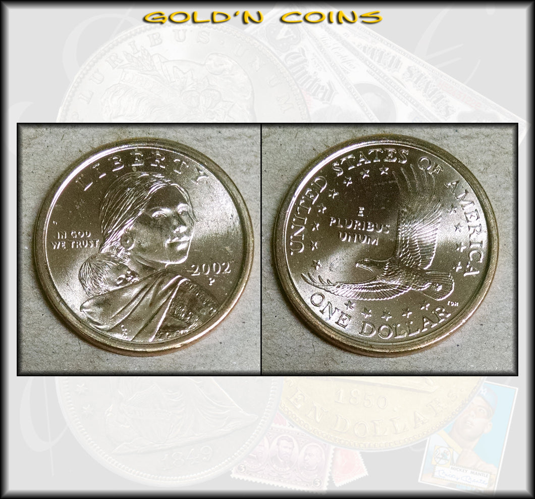 2002-P Sacagawea Native American Golden Dollar - UNC