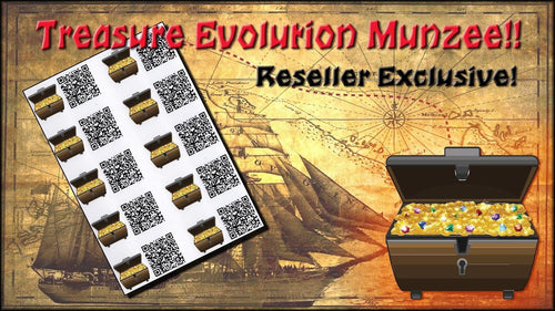 Treasure Evolution Munzee Stickers 10 Pack - Reseller Exclusive
