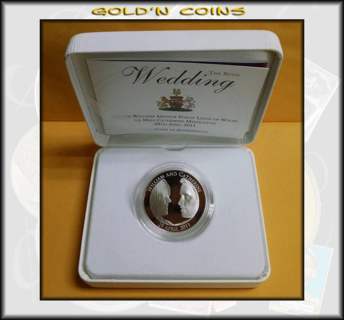 2011 GREAT BRITAIN Royal Wedding Alderney £5 SILVER GEM PROOF