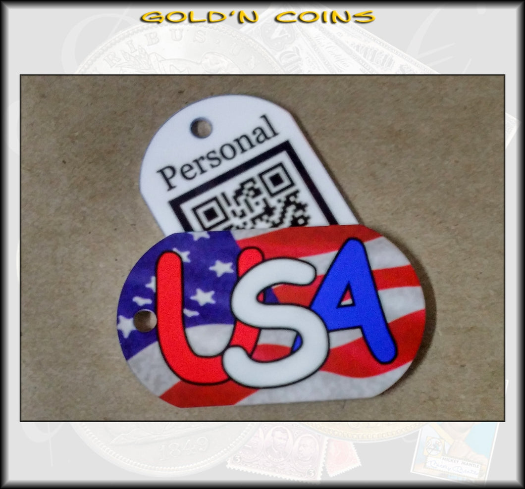 U.S.A. Personal Munzee Dog Tag