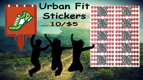 Urban Fit Munzee Stickers - 10 Pack