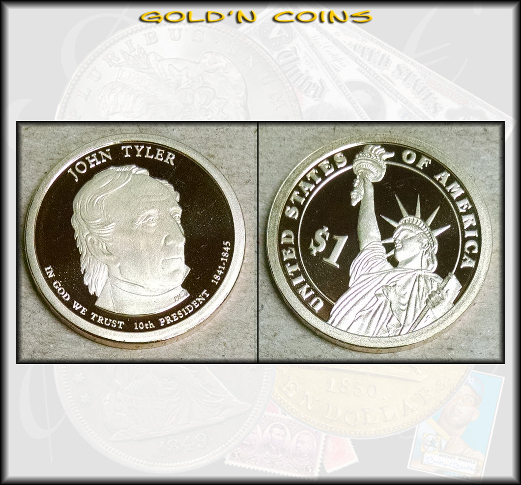 2009-S John Tyler Presidential Gold Dollar Choice PROOF