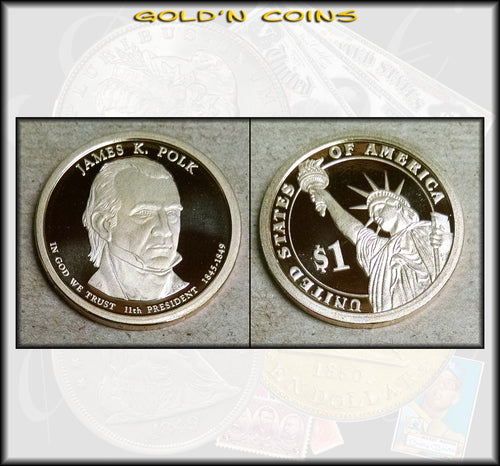 2009-S James Polk Presidential Gold Dollar Choice PROOF