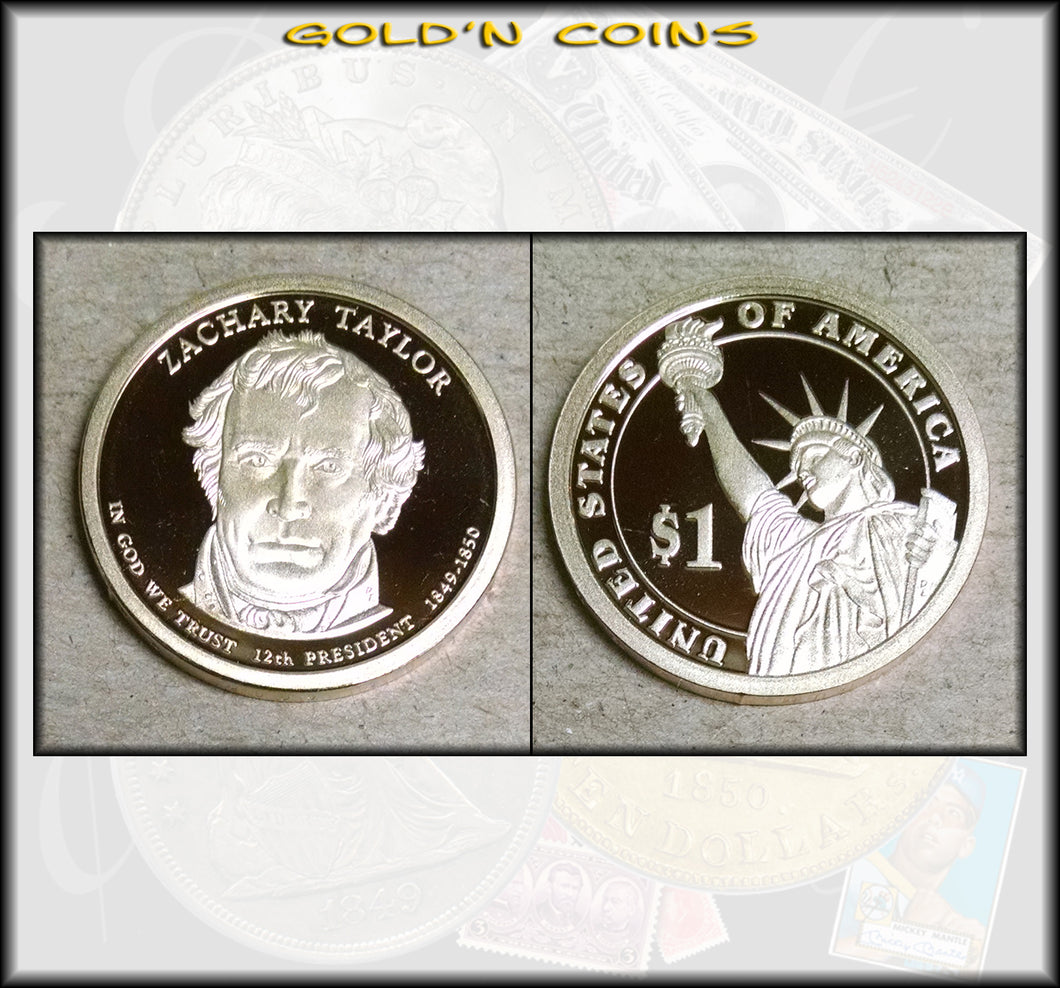 2009-S Zachary Taylor Presidential Gold Dollar Choice PROOF