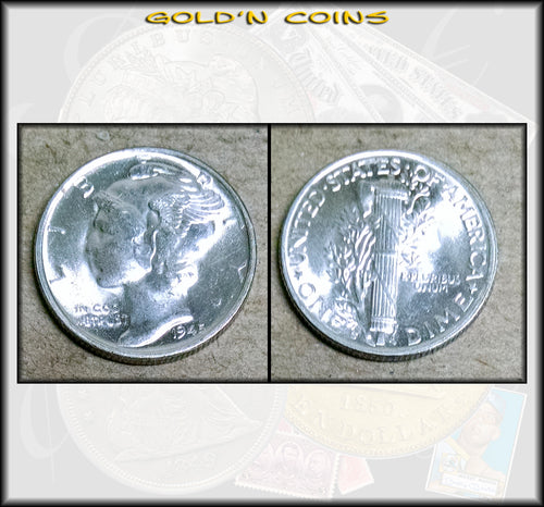 1945-S Mercury Dime - UNCirculated
