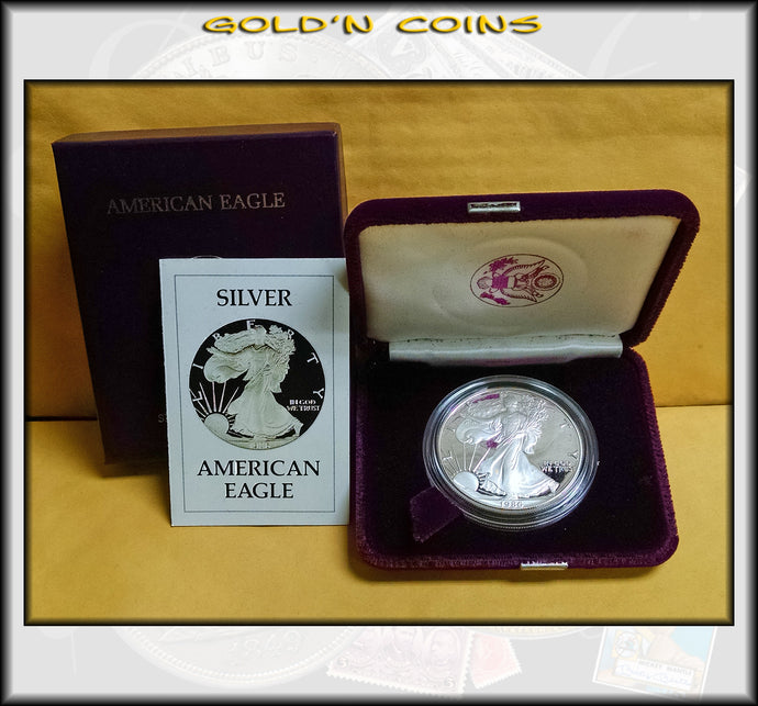 1986 Proof Silver Eagle in Original Government Packaging