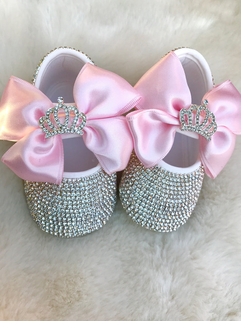 Baby Girl Swarovski Crib Shoes