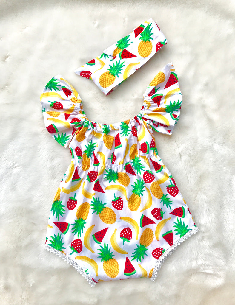 Baby Girl Watermelon/Strawberry Romper