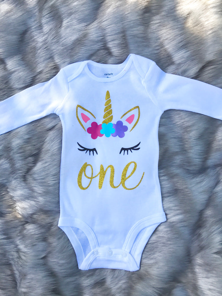 Unicorn Birthday Bodysuit