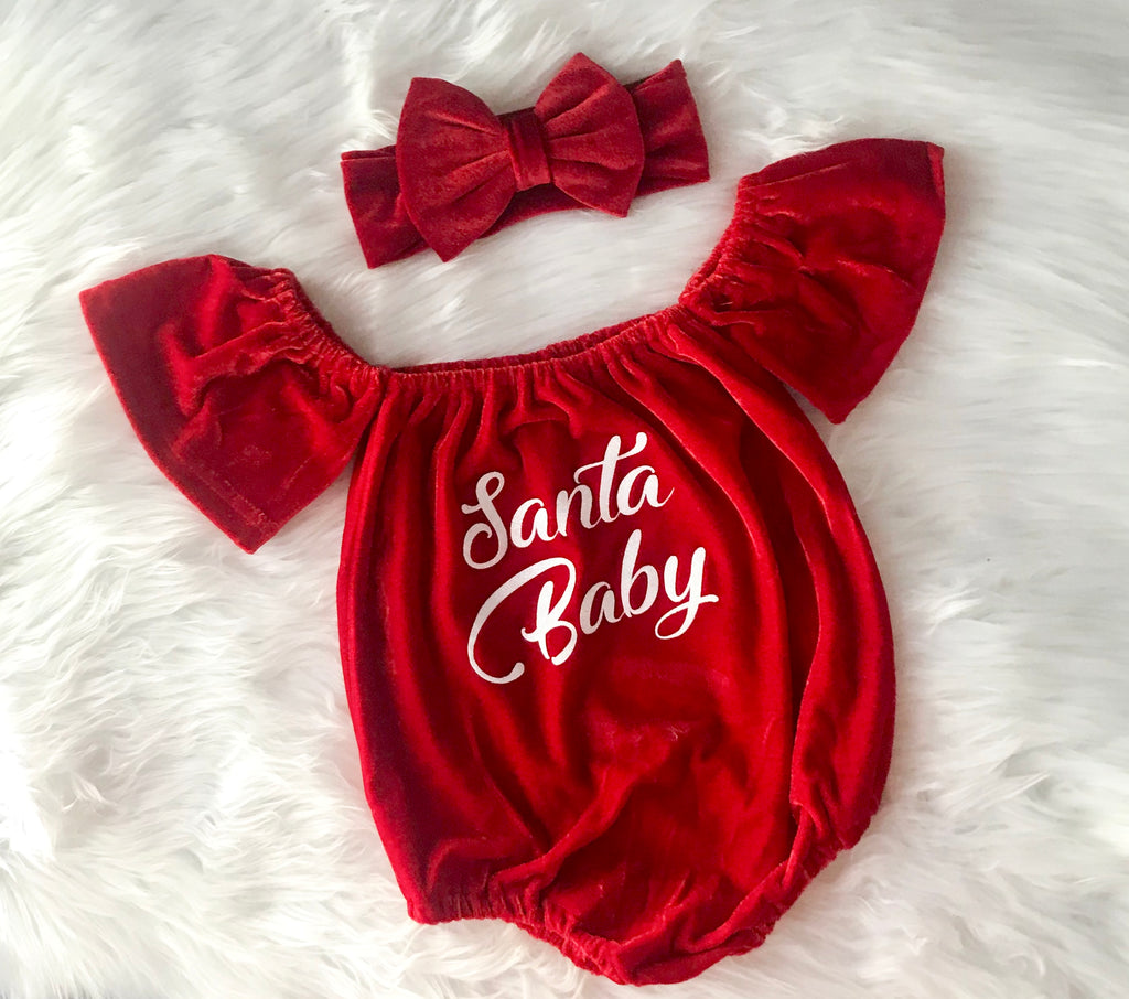 Red Christmas Romper