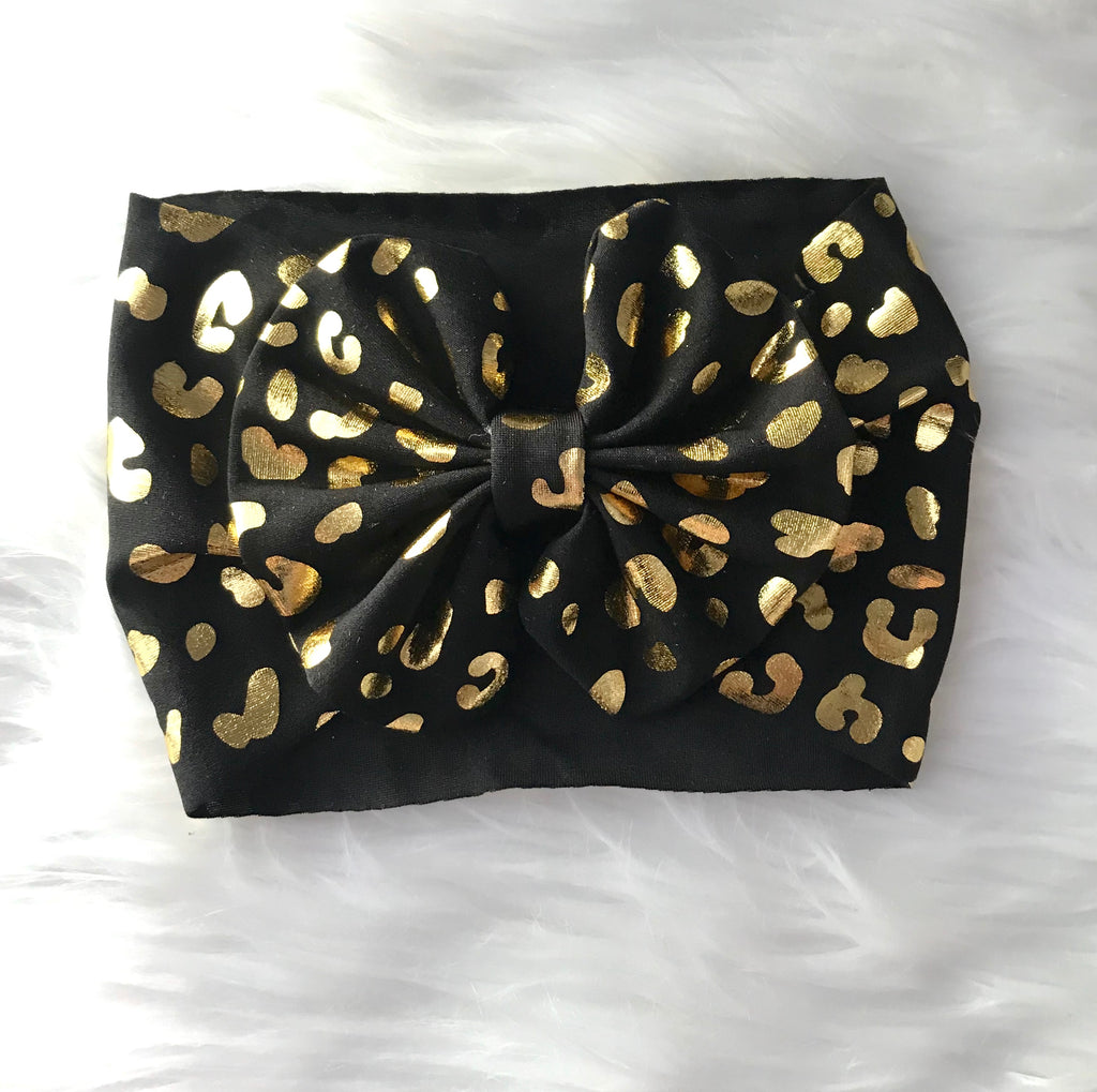 Gold & Black Head Wrap