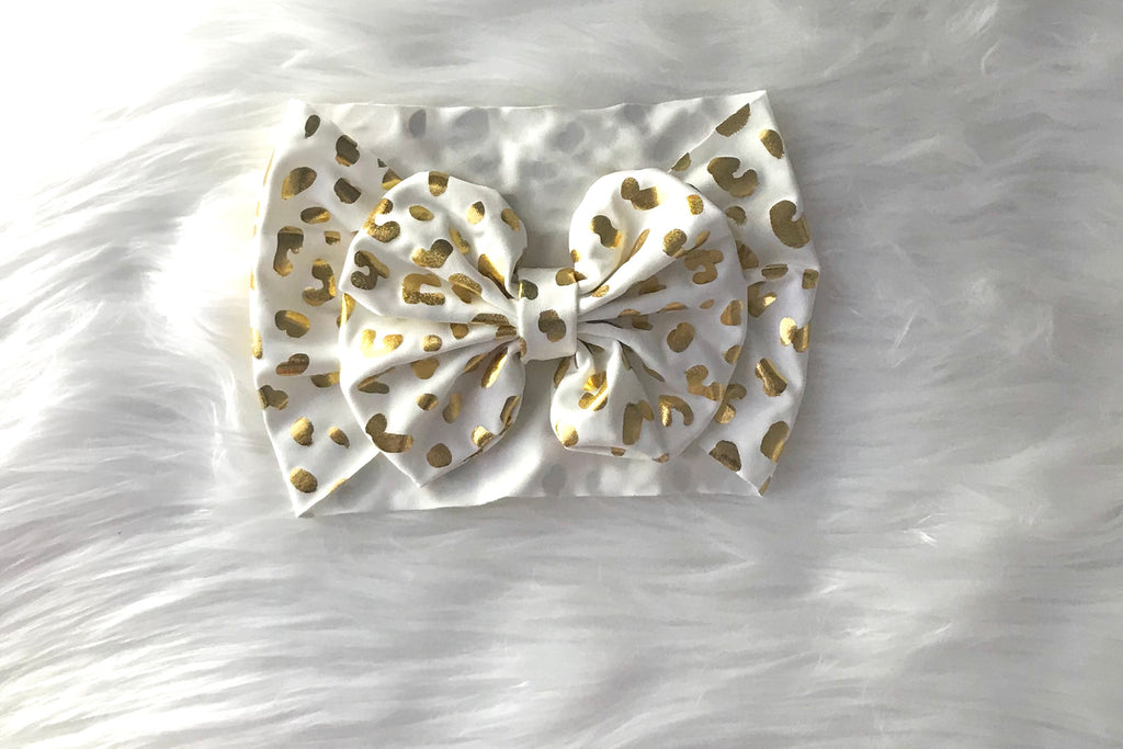 Gold & White Head Wrap