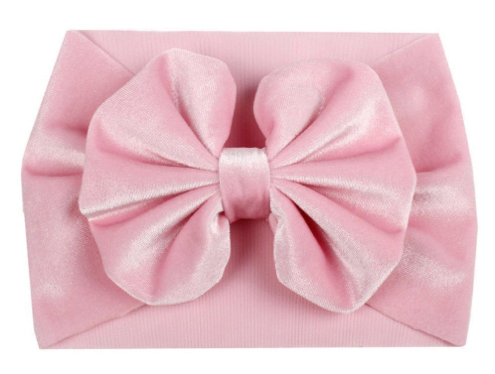 Baby Girl Velvet Big Bow Headband