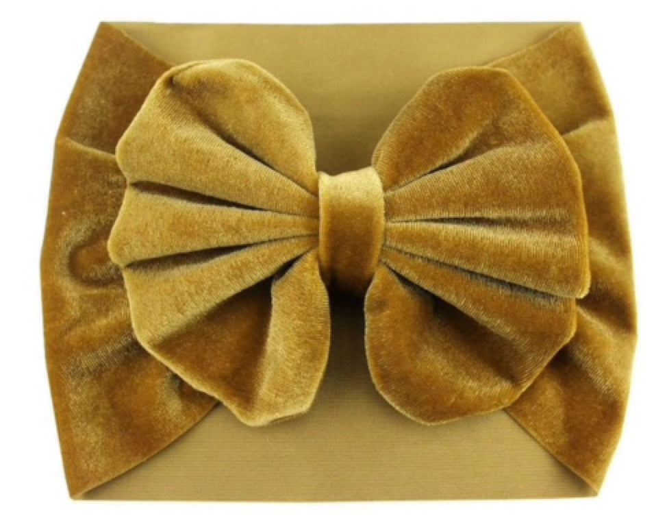 Baby Girl Velvet Big Bow Headband – Lialy Boutique 3b1388005ee