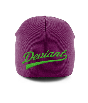 Pull-On Beanie Green Script