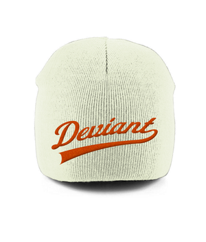 Deviant Beanie Orange Script