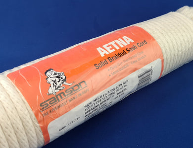 #8 Aetna Solid Braided Sash Cord - 100' hank