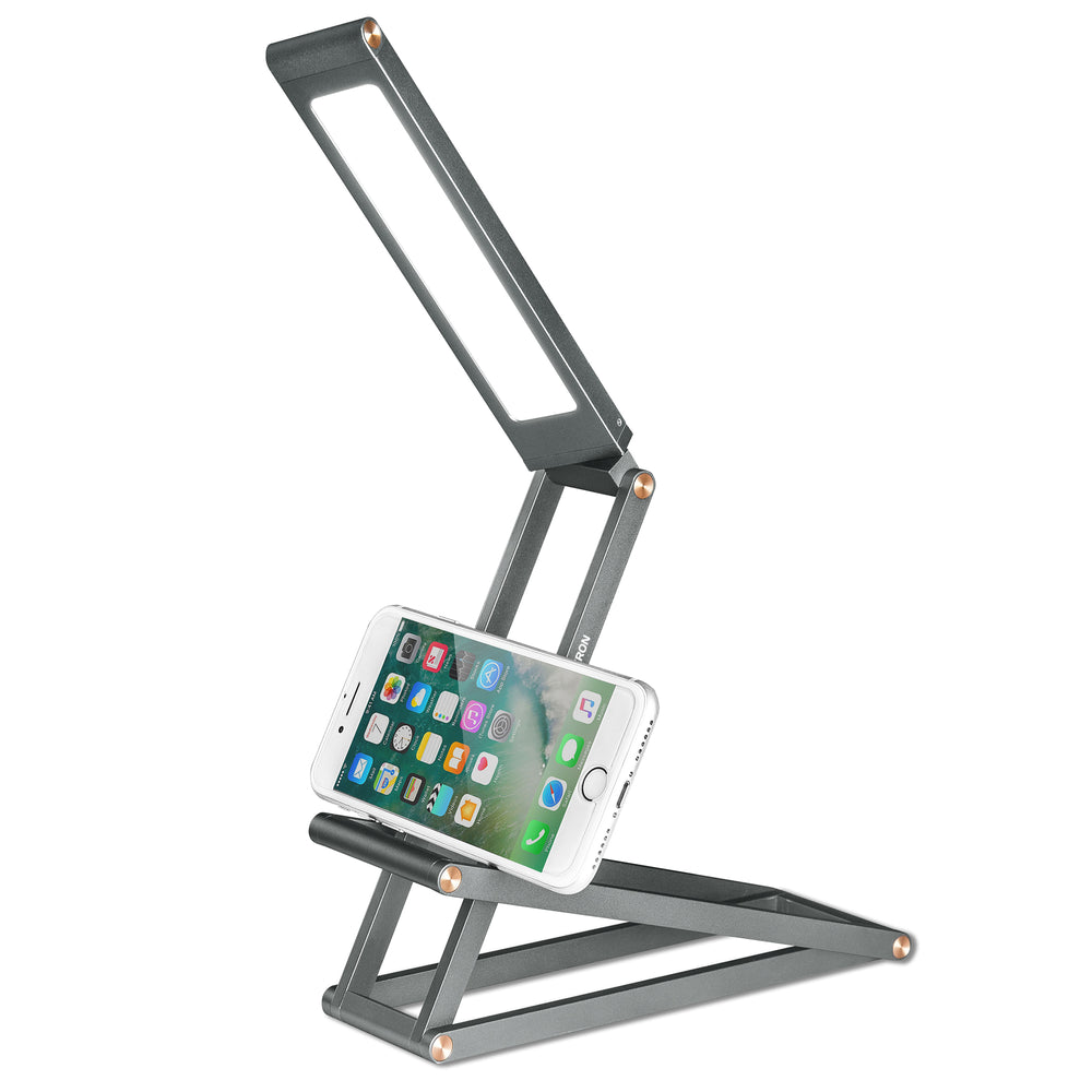 Lampe support pour smartphone ou tablette