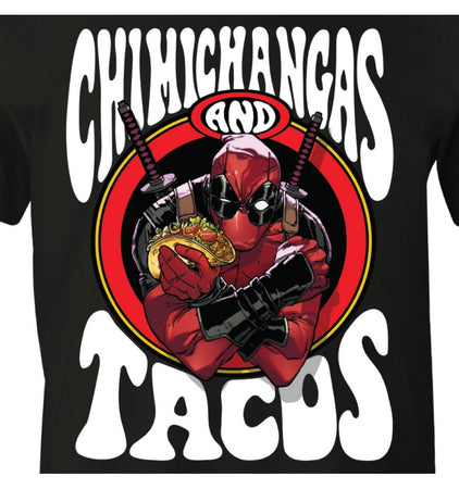 T-shirt Deadpool Marvel - Chimichangas and Tacos