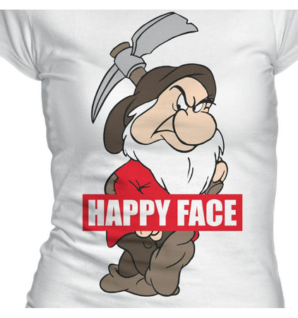 T-shirt Femme Blanche-Neige Disney - Happy Face