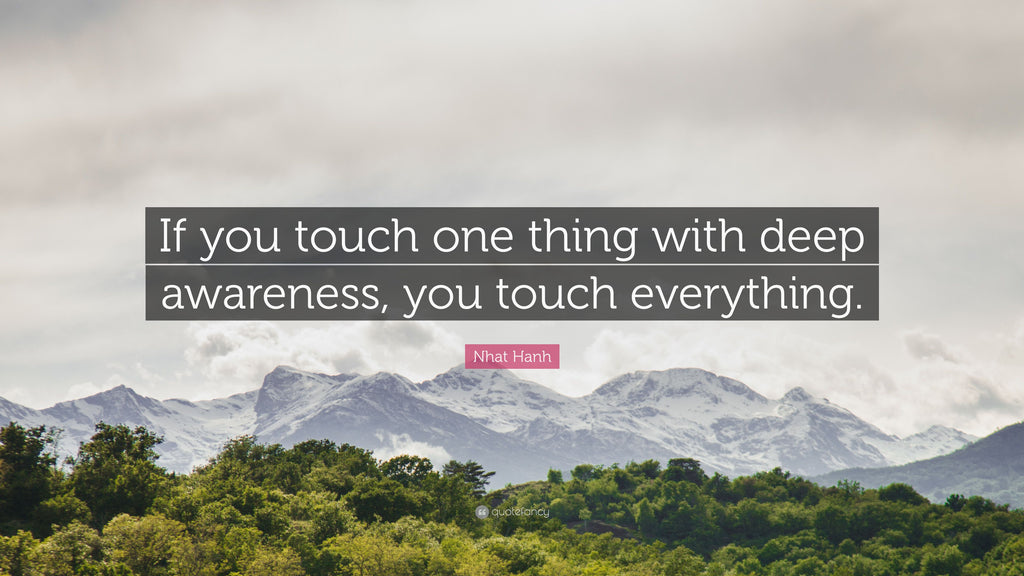When you touch one thing with deep awareness...