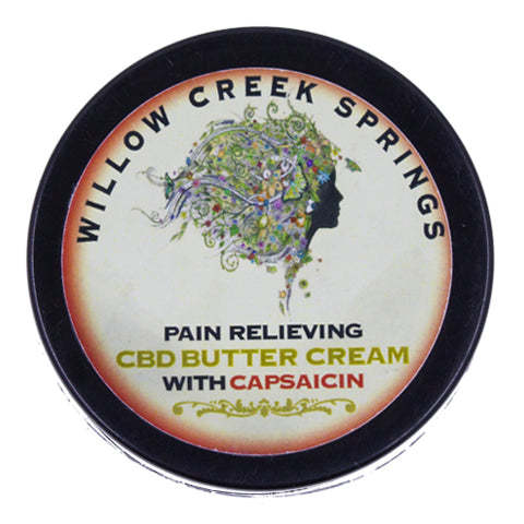Willow Creek Springs: Pain Relieving CBD Butter Cream W/ Capsaicin