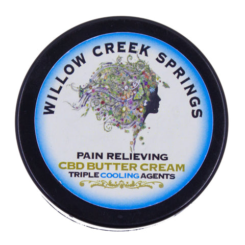 Willow Creek Springs: Pain Relieving CBD Butter Cream W/ Triple Cooling