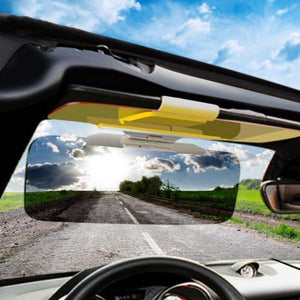 2018 New Car Day and Night Visor 2 in 1 Automobile Sun Anti-UV Block Visor Non Glare Anti-Dazzle Sunshade Mirror Gog