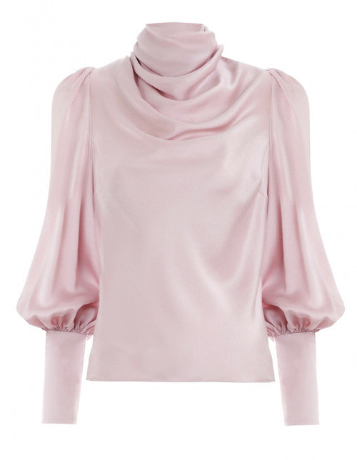 ZIMMERMANN-Cowl stretch silk blouse