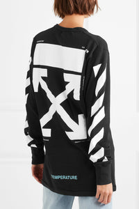 OFF-WHITE Printed cotton-jersey top