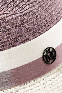 MAISON MICHEL  Blair two-tone hemp hat