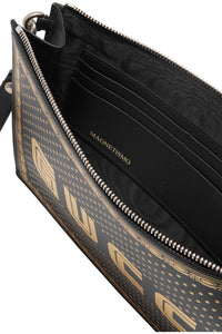 GUCCI- Guccy printed leather pouch