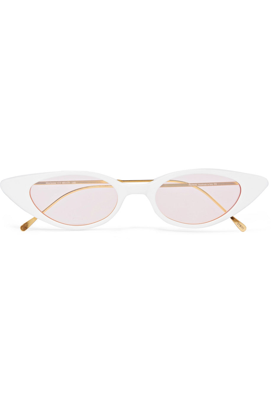 ILLESTEVA -Marianne cat-eye acetate and gold-tone sunglasses