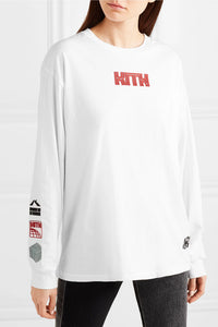 KITH-Sonoma oversized rubber-appliquéd cotton-jersey top