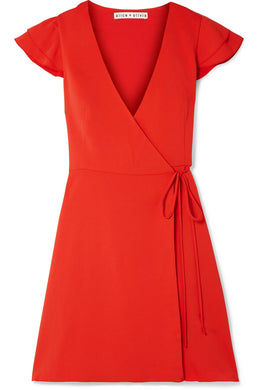 ALICE + OLIVIA Doralee crepe wrap dress