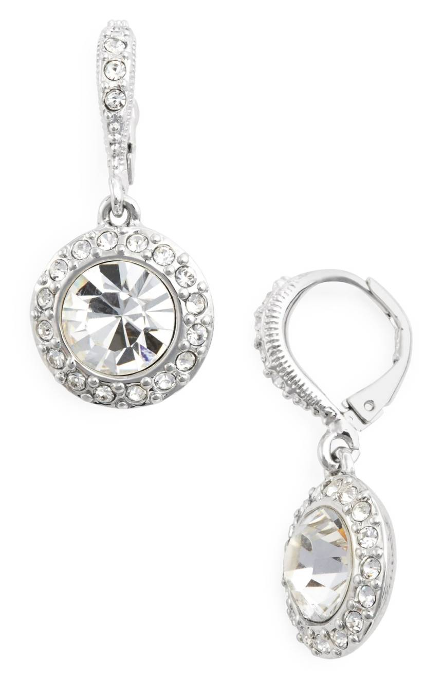 GIVENCHY Crystal Drop Earrings Jewelry