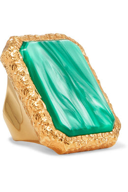 BALENCIAGA Gold-tone resin ring (JEWELRY)
