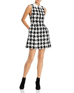 Alice and Olivia - Ellis Houndstooth Tweed Dress