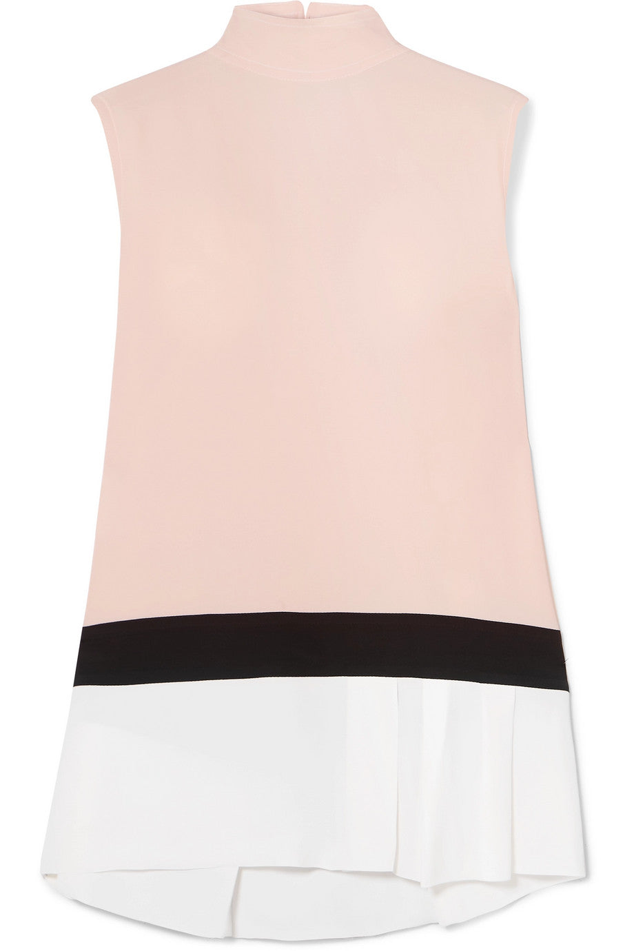 MARNI-Color-block washed-crepe top