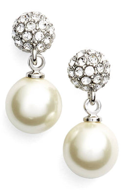 GIVENCHY Fireball Imitation Pearl Drop Earrings jewelry