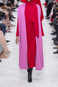 VALENTINO-Wool and cashmere-blend cape