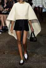 LANVIN-Wool and silk-blend cape