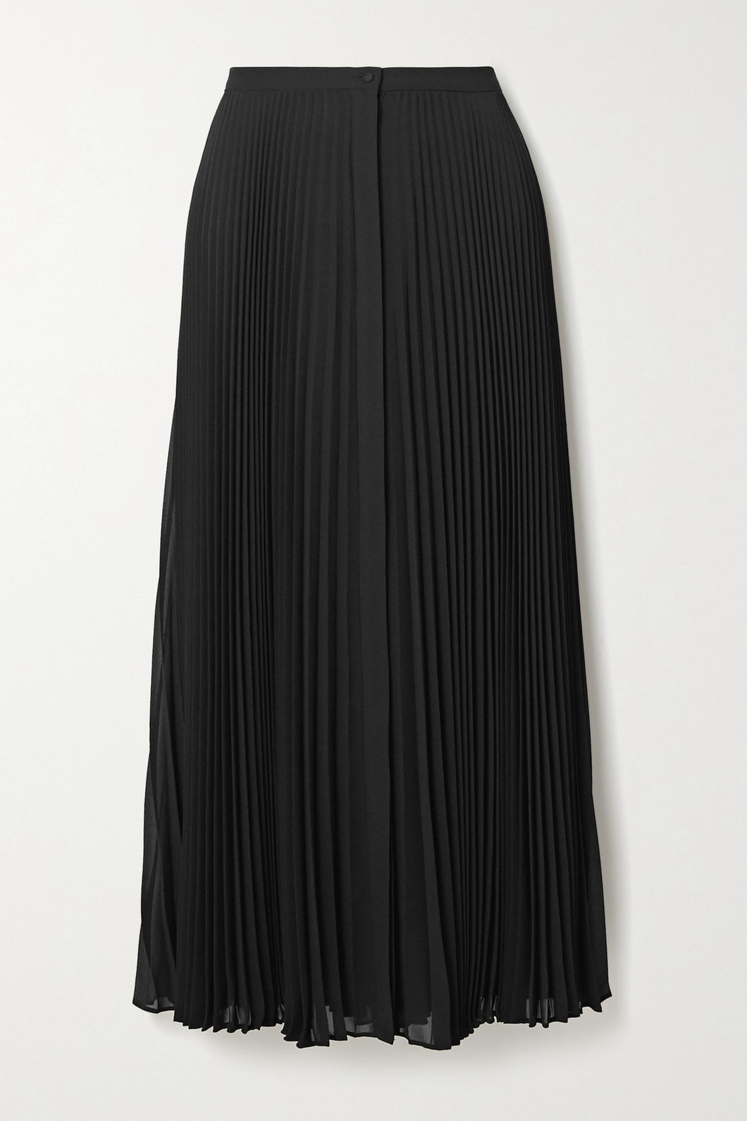 THEORY- Pleated georgette midi skirt