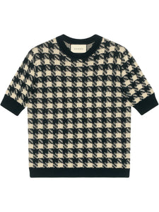 GUCCI- houndstooth knitted top