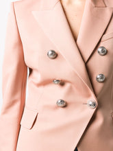 Balmain- fitted double-breasted blazer